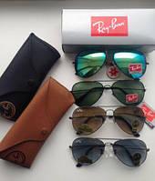 Солнцезащитные очки авиаторы капли стекло Ray-ban стекло 13,5см, фото 1