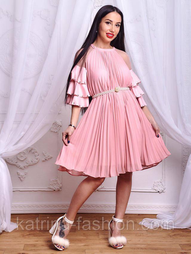 8642fcc2d0f Женское эффектное плиссированное платье свободного кроя (2 цвета ...