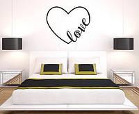 Виниловая наклейка на стену Влюбленное сердце