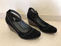 Туфли замшевые черные Graceland из Германии 37 р. Идеальное состояние(Б/У)