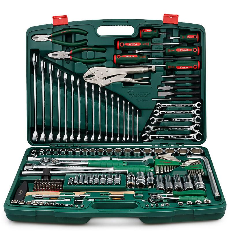 """Универсальный набор инструментов 1/2"""" & 1/4"""" 158 ед., HANS tools TK-158V"""