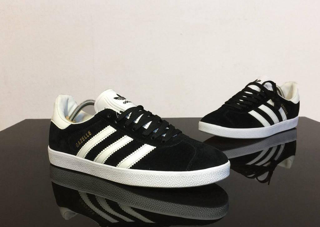 Adidas Gazelle Black-White (реплика) 44 размер