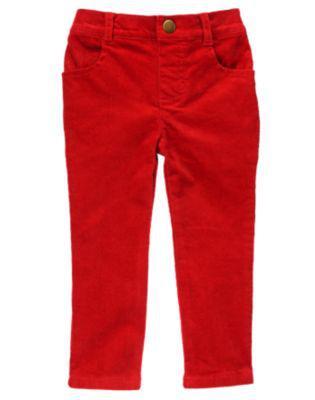 Червоні микровельветовые скінні (Розмір 4Т) Crazy8 (США)