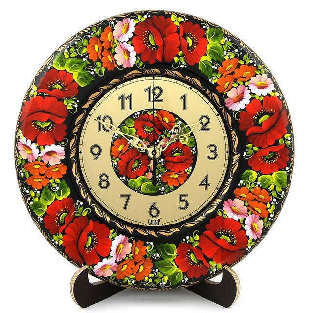 часы расписные петриковка