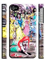 Чехол  на айфон 4/4s Зомби принцессы