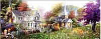 """Рисование камнями """"Домик в саду"""" (алмазная мозаика), фото 1"""