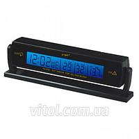 Термометр внутренний, наружный, часы, подсветка VST 7013V, Часы для авто, Часы автомобильные, Автомобильный термометр, Электронные часы