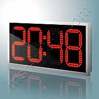 Светодиодные часы с термометром 750х350 мм