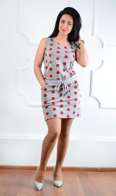 Молодежное летнее платье полотно двунитка