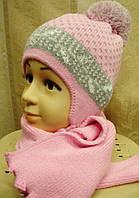 Комплект шапка и шарф для девочки.