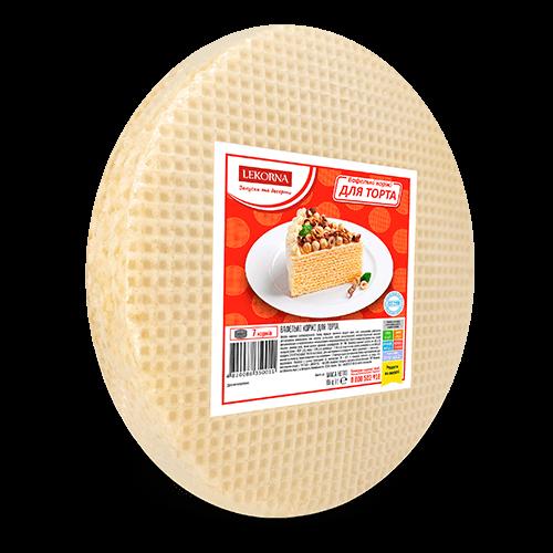 Вафельні коржі Lekorna 65г для торта 20шт/1ящик