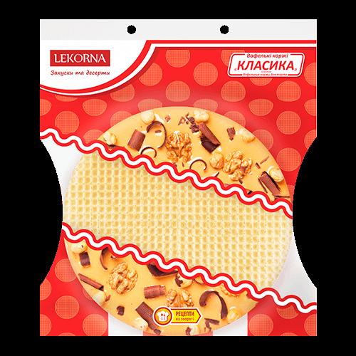 Вафельні коржі Lekorna 90г Класика для торта 16шт/1ящик