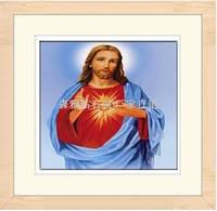 """Алмазная вышивка икона """"Сердце Иисуса"""""""