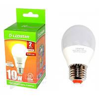 Светодиодная лампа Ledstar А60 E27, 10W, 4000k, 930Lm, матовая, шар, лампочка Ledstar E27, лед лампочка, LED лампа Ledstar