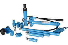 Набор растяжек для кузовных работ 10Т (в пласт. кейсе на роликах) (UN71001L Unitraum)