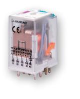 Промежуточные реле под цоколь  ERM4-230AC 4p (6А, АС1, 4 контакта)