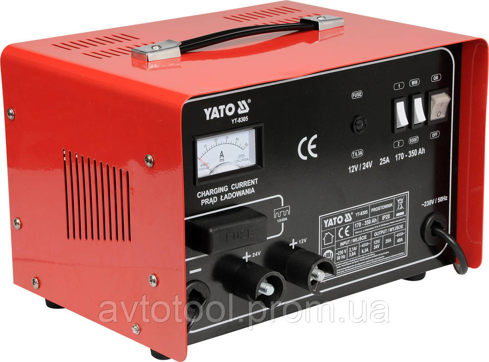 Пуско-заряд. устройство 12/24V 25А 350Ah, YT-8305 YATO