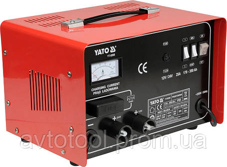 Пуско-заряд. устройство 12/24V 25А 350Ah, YT-8305 YATO, фото 2