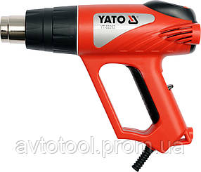Фен електр-й с регул. температури 2 кВт, макс. t= 550°С с прилаштунками, YT-82292 YATO