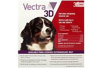 Краплі зовнішні від бліх та кліщів для собак 40-65кг Вектра-3D