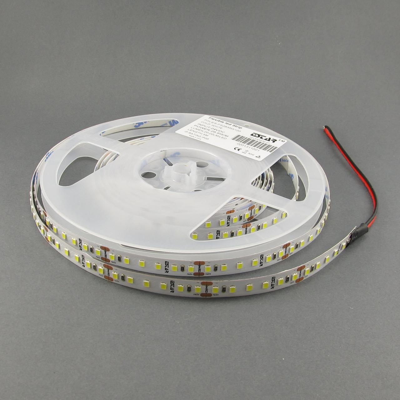 Светодиодная лента 2835/120 IP20 24В премиум Белый