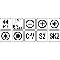Набір інструментів в сумці 44 шт., YT-39280 YATO, фото 2