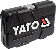 Набір головок торцевих М6-22 мм з квадр. 3/8'' з інстр-ми, 22 шт. [10], YT-38561 YATO, фото 2