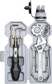 """Інструменти для ремонту і обслугов. велосипеда в футлярі """"пляшка"""" з кріпленням до рами, наб. 18 шт. (77795 Vorel)"""
