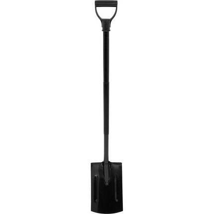Лопата штикова прямокутна з метал. держаком, l= 120 см (35805 Vorel), фото 2