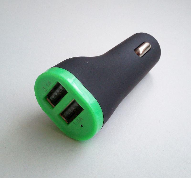 Зарядное устройство на 2 Usb порта от прикуривателя 12 В