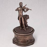 Бронзовая статуэтка Музыкальная шкатулка Иоганн Штраус (19 см)