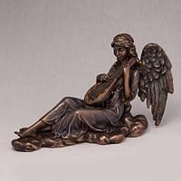 Бронзовая статуэтка Играющий ангел (22*15 см)