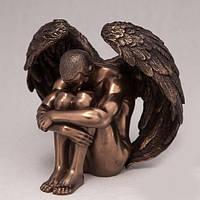 Бронзовая статуэтка Статуэтка Грустящий ангел (11 см)В