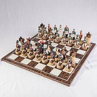 Бронзовая статуэтка Шахматы Наполеон-Кутузов (33*33 см)