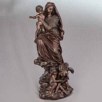 Бронзовая статуэтка Дева Мария c Иисусом на руках (32 см)