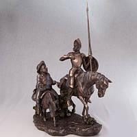 Бронзовая Статуэтка Дон Кихот и Санчо Панса (31 см)