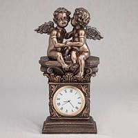 Бронзовые Часы Секреты ангелов ( 20 см)