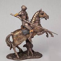 Бронзовая Статуэтка Рыцарь на коне (27 см)