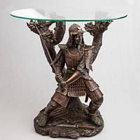Бронзовый Стол Самурай с мечем (60 см)