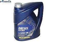 Масло моторное п/синтетика MANNOL Diesel Extra 10W-40 5L CH-4/SL