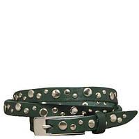 Кожаный женский зеленый ремень SVETLANA ZUBKO «Мерцание» 2D15024