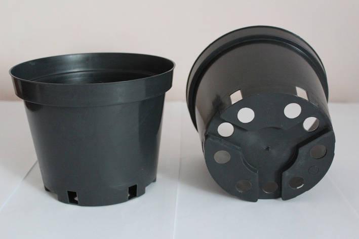 Горшок для рассады 1л,(13x10,4см),черный,500шт\уп, фото 2