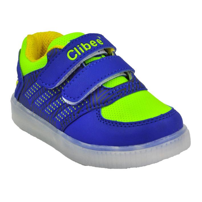 43fe2135 Детские кроссовки с подсветкой для мальчика Clibee 22 размер купить ...