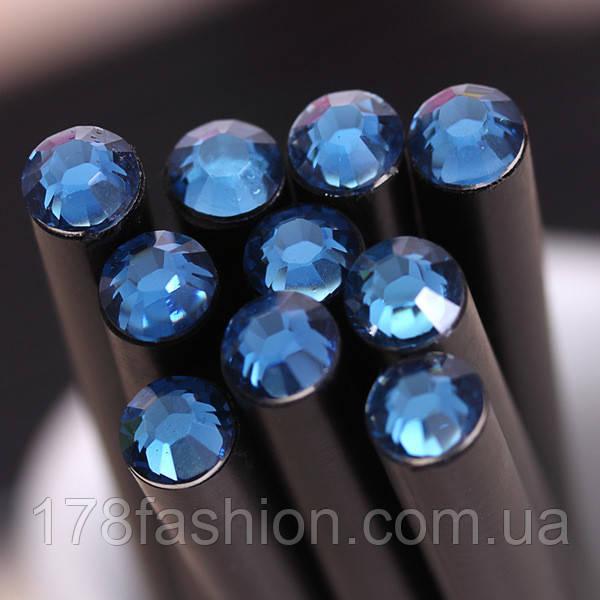 Оригинальный и модный простой карандаш черного цвета с васильковым кристаллом