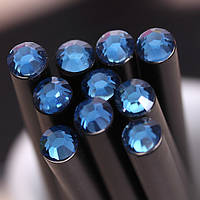 Оригинальный и модный простой карандаш черного цвета с васильковым кристаллом, фото 1