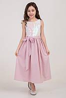 Детское платье, красивое и нарядное, лиловое с пайетками, рост 110 и 116