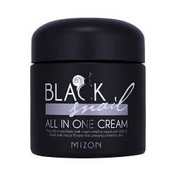Крем для лица с фильтратом черной улитки Mizon Black Snail All In One Cream - 75мл