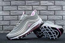 Женские кроссовки Nike Air Max 97 Grey Rose топ реплика, фото 2