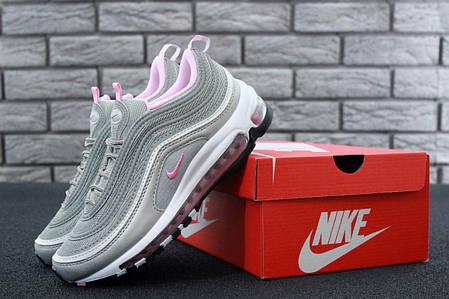 Женские кроссовки Nike Air Max 97 Grey Rose топ реплика  продажа ... 3a2fab99c21