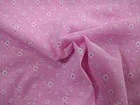 """Батист ткань """"Ромашка""""/ розовый, фото 1"""
